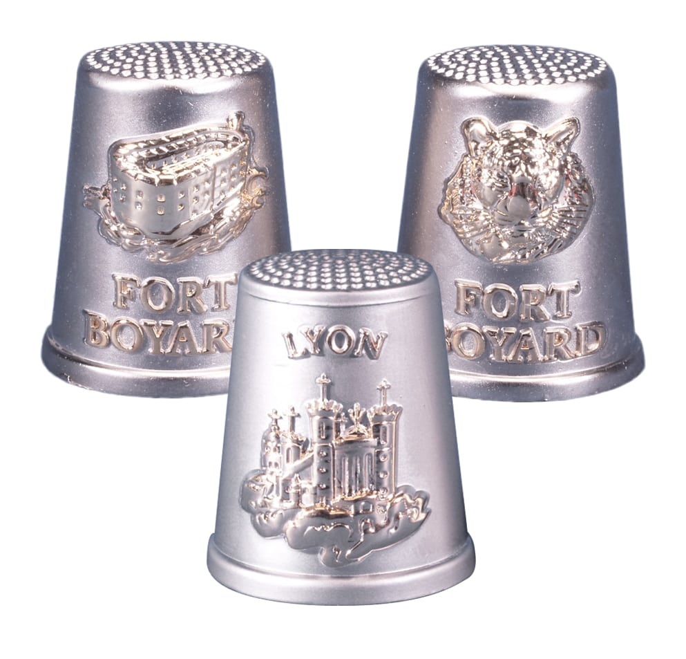 Metal thimbles in gold plating
