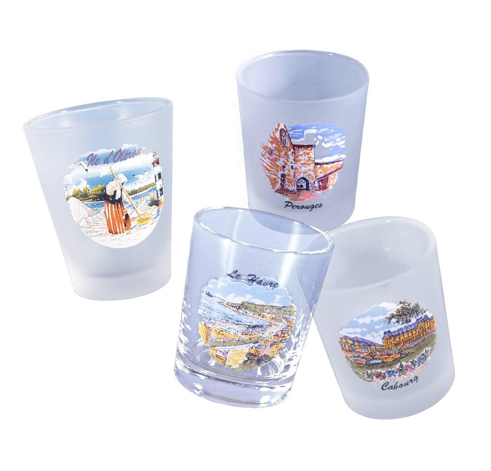 verres à liqueur - décor