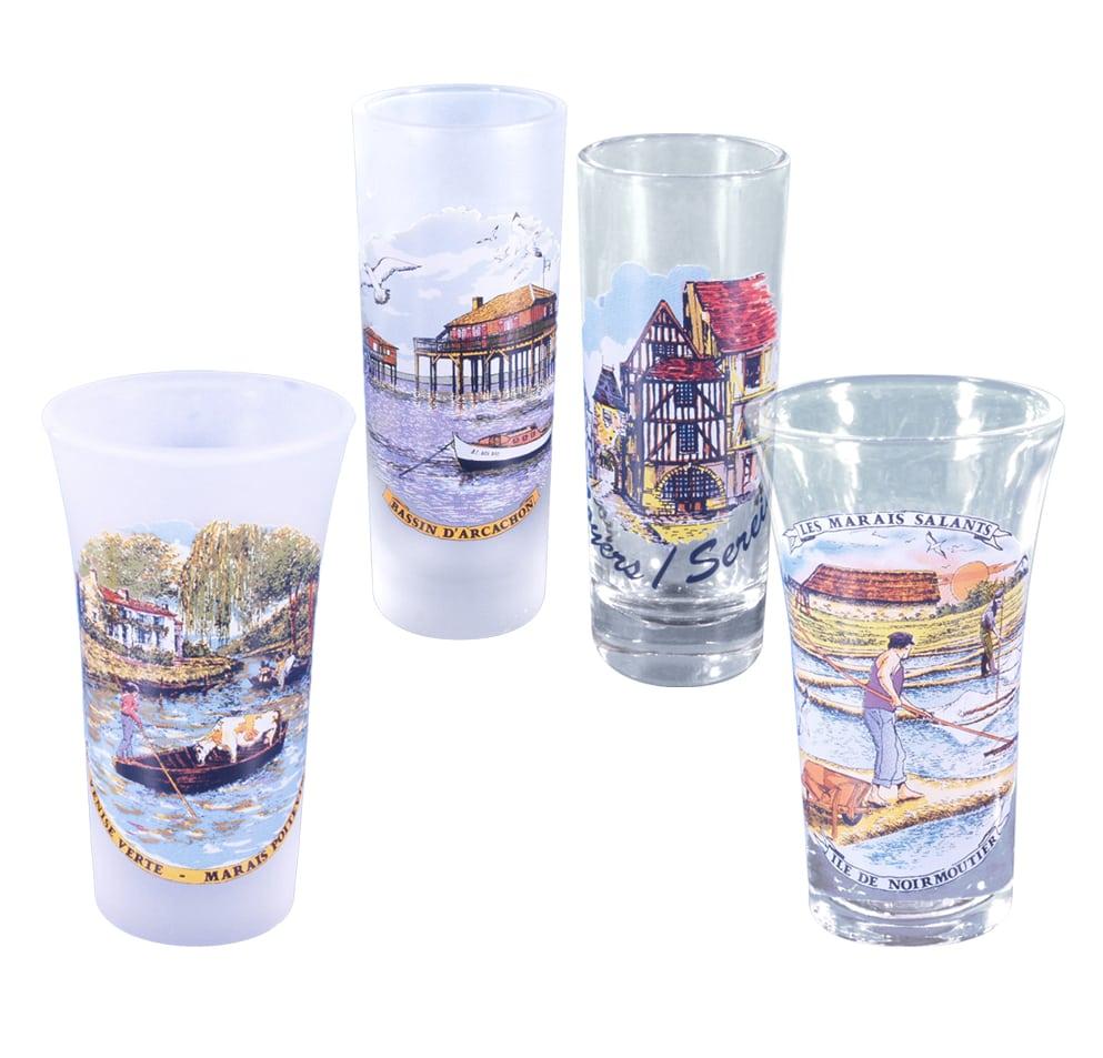 verres de table - décor